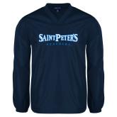 V Neck Navy Raglan Windshirt-Saint Peters University