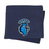 Navy Sweatshirt Blanket-Peacock