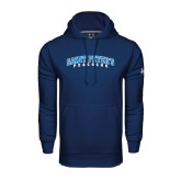 Under Armour Navy Performance Sweats Team Hoodie-Arched Saint Peters University