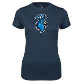Ladies Syntrel Performance Navy Tee-Peacock