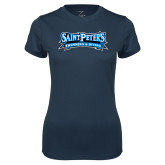 Ladies Syntrel Performance Navy Tee-Swimming & Diving