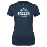 Ladies Syntrel Performance Navy Tee-Soccer Circle