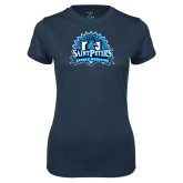 Ladies Syntrel Performance Navy Tee-Sports Medicine