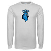 White Long Sleeve T Shirt-Peacock