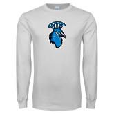 White Long Sleeve T Shirt-Peacock