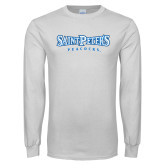 White Long Sleeve T Shirt-Saint Peters University
