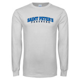 White Long Sleeve T Shirt-Arched Saint Peters University