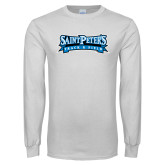 White Long Sleeve T Shirt-Track & Field