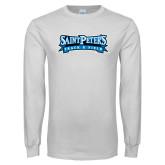 White Long Sleeve T Shirt-Track & Field