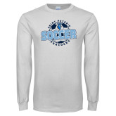White Long Sleeve T Shirt-Soccer Circle