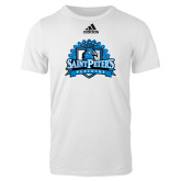 Adidas White Logo T Shirt-Official Logo