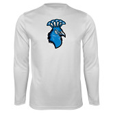 Syntrel Performance White Longsleeve Shirt-Peacock
