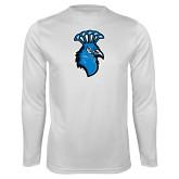 Syntrel Performance White Longsleeve Shirt-Peacock