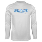 Syntrel Performance White Longsleeve Shirt-Saint Peters University