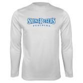 Syntrel Performance White Longsleeve Shirt-Saint Peters University