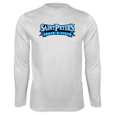 Syntrel Performance White Longsleeve Shirt-Track & Field