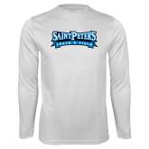 Syntrel Performance White Longsleeve Shirt-Track & Field