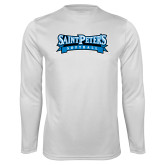 Syntrel Performance White Longsleeve Shirt-Softball