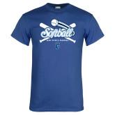 Royal T Shirt-Peacocks Softball Crossed Bats