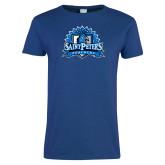 Ladies Royal T Shirt-Official Logo Distressed