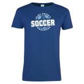 Ladies Royal T Shirt-Soccer Circle