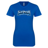 Next Level Ladies SoftStyle Junior Fitted Royal Tee-Saint Peters Peacock Nation Banner