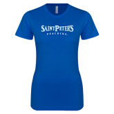 Next Level Ladies SoftStyle Junior Fitted Royal Tee-Saint Peters University