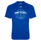 Under Armour Royal Tech Tee-Basketball Arched w/ Ball