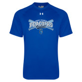 Under Armour Royal Tech Tee-Peacocks Baseball Crossed Bats