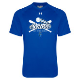 Under Armour Royal Tech Tee-Peacocks Softball Crossed Bats