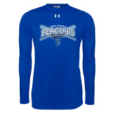 Under Armour Royal Long Sleeve Tech Tee-Peacocks Baseball Crossed Bats