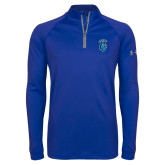Under Armour Royal Tech 1/4 Zip Performance Shirt-Peacock