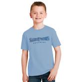 Youth Light Blue T Shirt-Saint Peters University Foil