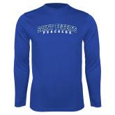 Syntrel Performance Royal Longsleeve Shirt-Arched Saint Peters University