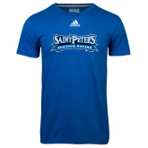 Adidas Climalite Royal Ultimate Performance Tee-Saint Peters Peacock Nation Banner