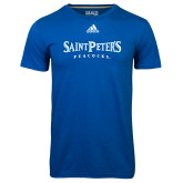 Adidas Climalite Royal Ultimate Performance Tee-Saint Peters University