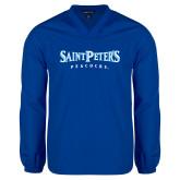 V Neck Royal Raglan Windshirt-Saint Peters University