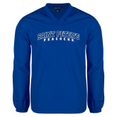 V Neck Royal Raglan Windshirt-Arched Saint Peters University