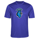 Performance Royal Heather Contender Tee-Peacock
