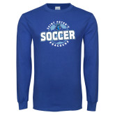 Royal Long Sleeve T Shirt-Soccer Circle