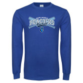 Royal Long Sleeve T Shirt-Peacocks Baseball Crossed Bats