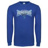 Royal Long Sleeve T Shirt-Peacocks Baseball Crossed Bats