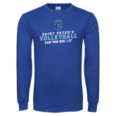 Royal Long Sleeve T Shirt-Volleyball Can You Dig It