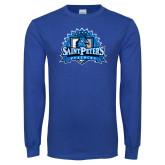 Royal Long Sleeve T Shirt-Official Logo Distressed