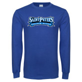 Royal Long Sleeve T Shirt-Saint Peters Peacock Nation Banner