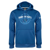 Under Armour Royal Performance Sweats Team Hoodie-Basketball Arched w/ Ball