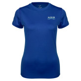 Ladies Syntrel Performance Royal Tee-Saint Peters Peacock Nation Banner