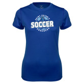 Ladies Syntrel Performance Royal Tee-Soccer Circle