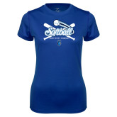 Ladies Syntrel Performance Royal Tee-Peacocks Softball Crossed Bats