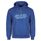 Royal Fleece Hoodie-Volleyball Can You Dig It